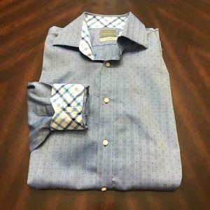 EUC Thomas Dean Blue Button Up